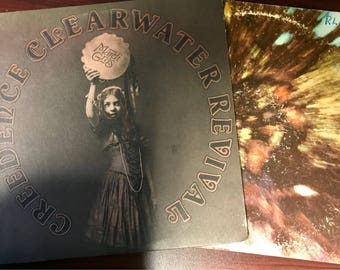 Creedence Clearwater Revival Vinyl Records - Set of 2 (1960's and 1970's)