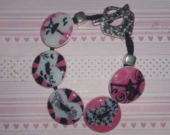 "Bracelet ""Paris"" with my resin buttons with toggle"