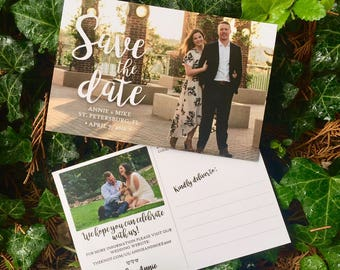 Calligraphy Inspired Save the Date
