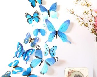 3d butterfly decoration wall decor butterfly wall decor colorful butterflies 12 pieces
