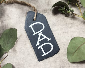Personalized Ornament for Dad | Dad Ornament | Gifts for New Dads | New Father Gift | Gifts for Him | Slate Ornament | Christmas Ornament