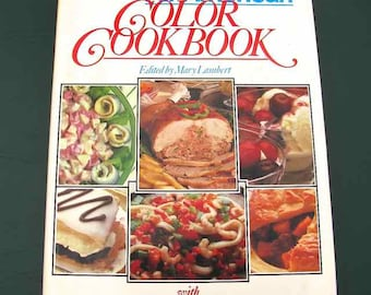 1986 The New All-American Color Cookbook Mary Lambert HBDJ