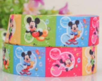 Mickey & Minnie (by the yard) 25mm Ribbon