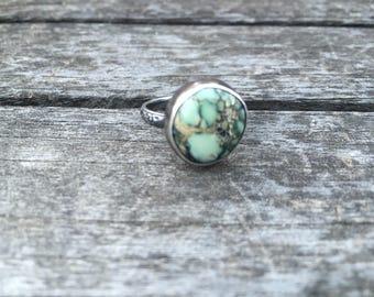 Turquoise ring, variscite ring, statement ring, gift, unique ring, Vintage turquoise ring, boho ring, dainty ring, nature inspired, ooak