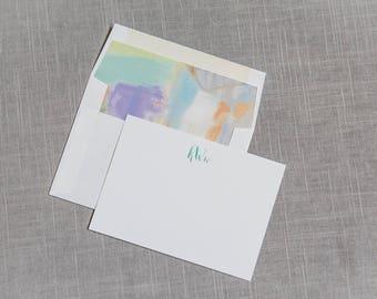 Letterpress Stationery, Foil Pressed Stationery, Envelope Liner,