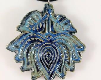 Lotus Porcelain Ceramic Necklace Hippie Boho