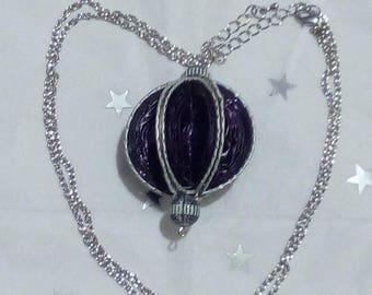 Necklace with Nespresso capsules purple ball