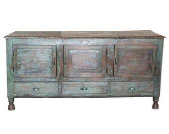 antique aged emerald pitara sideboard indo french design sideboard pitara sideboard aged green