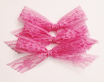 Vintage lace bow [ mauve lace ]