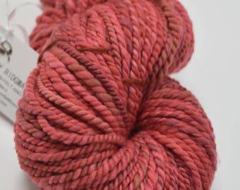 Australian Merino Wool Chunky Yarn Knitting Crocheting Weaving Dolls Hair Dusty Red. 11934