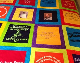 Framed tShirt quilt