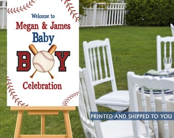 Baby Shower Welcome Sign, Welcome to the Party Sign, It's Boy Welcome Sign, Personalized Welcome Sign, Baseball Foam Board Sign