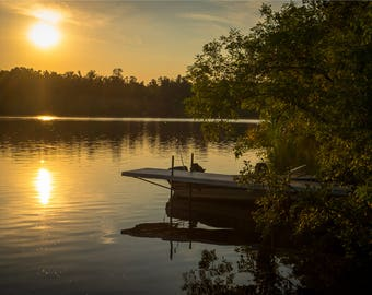 CHIPPEWA RIVER DOCK 2 | modern fine art photography blank note cards custom books interior wall decor affordable pictures –Rick Graves