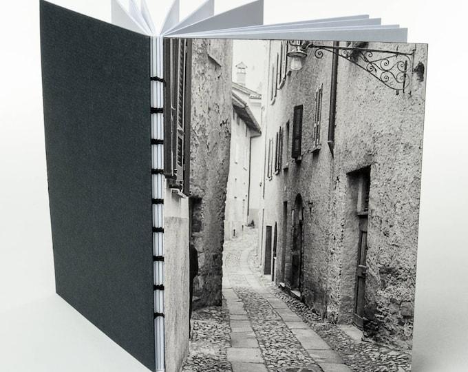 ROVIO SWITZERLAND STREETSCENE small handmade coptic bound blank book diary journal notebook original cover photo | aBoBoBook 138