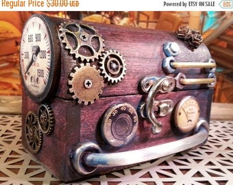 ON SALE NOW Steampunk inspired Ring Box