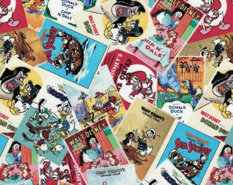 Disney Fabric with Vintage Donald Duck- Donald Duck Poster Fabric- Springs Creative- 100% Cotton Fabric