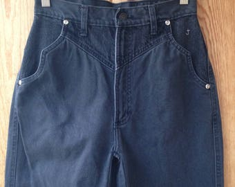 "1980's Cross J Jeans / Western Style / High Rise Waist / Sz.  5/6 / 25""W x 37""L / Extra Long - Tall / Made in USA"