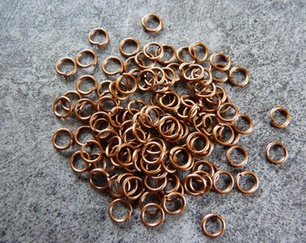 20 rings diameter copper metal. 5 Pack of 20 mm