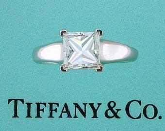 Tiffany & Co. 1.50ct Princess Cut Diamond Solitaire Platinum Engagement Ring