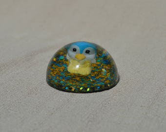 Small Blue Penguin Paperweight