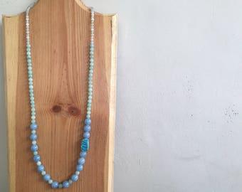 Creamy Starla gemstone necklace, turquoise necklace, statement necklace, statement piece