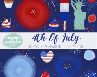 4th Of July Clip Art Set