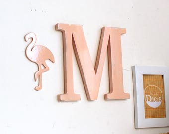 Letter M and her Flamingo _ letter personnalisable_ personnalisable_mylittledecor color