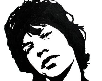 Mick Jagger hand-drawn drawing / painting