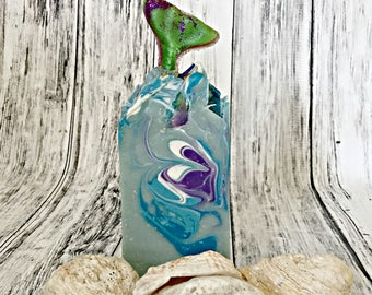 Mermaid Soap - Summer Soap - Mermaid Kisses Handcrafted Soap - Homemade Soap - Luxury Soap - Summer Outdoor Soap - Beach Clean Scent - Ocean