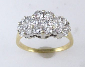 Vintage Diamond Engagement or Right Hand Ring