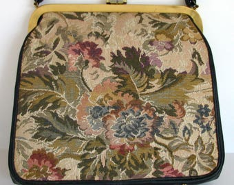 1960s Purse JR Julius Resnick Purse Tapestry 1960s Handbag