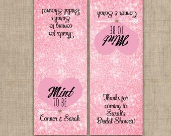 Mint To Be Tic Tac Label, Bridal Shower Tic Tac Favors, Bridal Shower Stickers, Tic Tac Favors, Personalized Favor