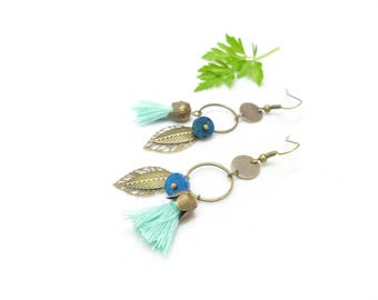 Earrings Bohemians ¤ ~ blue Peacock ~ ¤