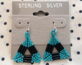 Triangle Bugle Seed Bead Earring