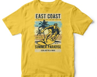 East Coast Summer Paradise Cotton T-shirt