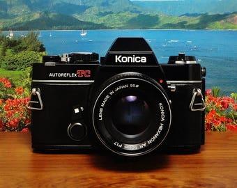 Vintage KONICA Autoreflex TC 35mm Fully Manual Film Camera, Konica Hexanon AR 50mm f/1.7 Lens, New Light Seals, Circa: 1976~1982, A Beauty!