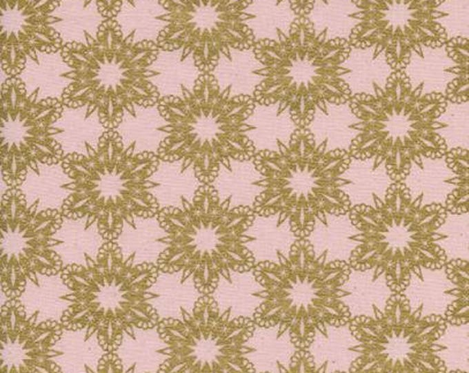 Noel by Cotton + Steel - Gold Flakes Pink - Metallic Cotton Woven Fabric