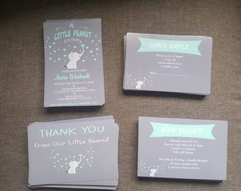little peanut to be baby shower invitations