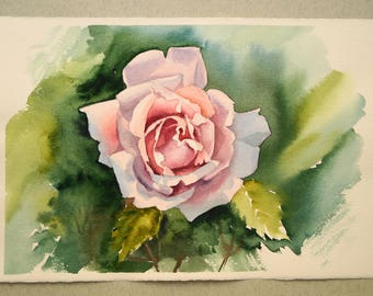 Original Floral Watercolor, Rose Painting, Original Botanical Painting, Rose Flower Wall Art, Rose Original Watercolor, Botanical Watercolor