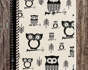 SALE - Owls and Arrows Journal - Owl Notebook - Owls and Arrows