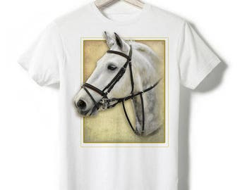 Mixed White T-shirt - White pony