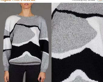 ON SALE Vintage 80s Abstract Sweater