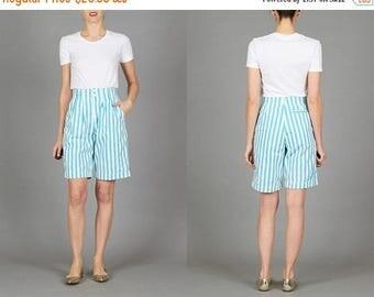 ON SALE ON Sale Vintage 80s Striped Shorts