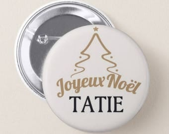 32mm pin badge personalized name, Merry Christmas, place card 3