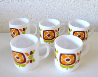 Set of 5 coffee cups Arcopal Mobil cup