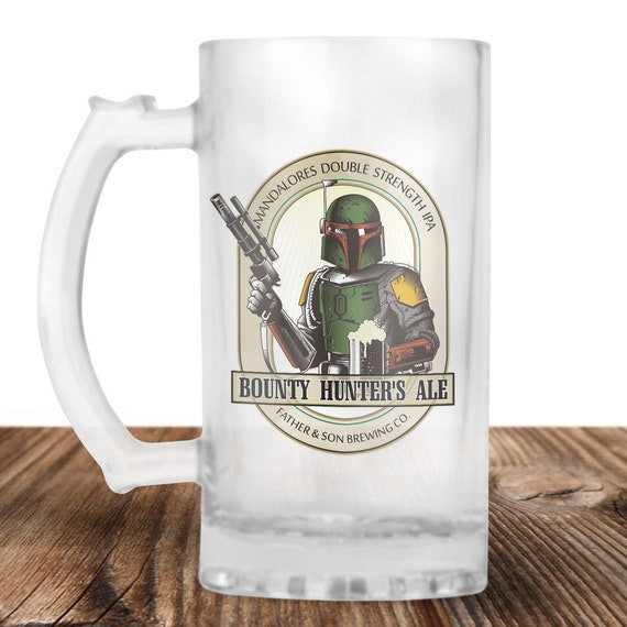 Boba Fett- Boba Fett Beer Stein- Boba Fett Bounty Hunter Ale - Father Son Craft Beer Mug -Beer Mug -Beer Lover Gift -Perfect Beer Lover Gift