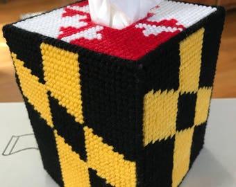 Maryland Flag Tissue Box