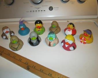 CHARACTER Rubber Ducks Set/ 10 ORIENTAL TRADING