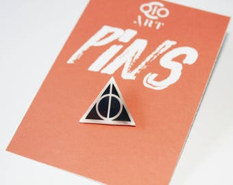Deathly Hallows PIN - Harry potter pin,collector, Elder Wand, harry, ron, hogwarts, gryffindor, Cloak Invisibility, hufflepuff, Peverell