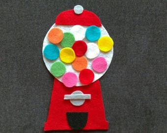 Bubble Gum Machine Felt Story Set // Flannel Board Story Set // Preschool // Teacher Story // Counting // Colors